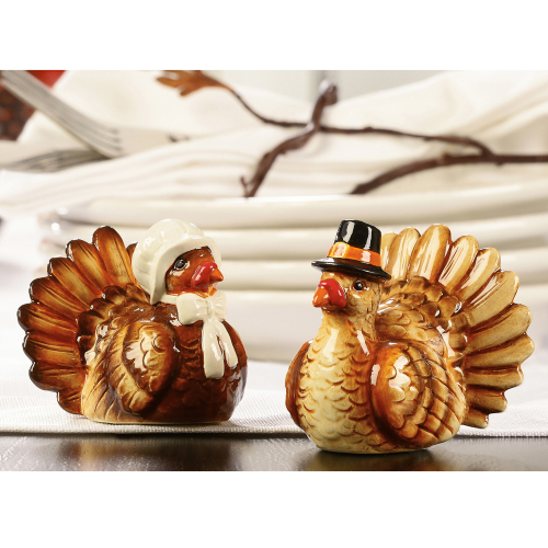 LTD QTY!  Pilgrim Turkey Salt & Pepper Shakers