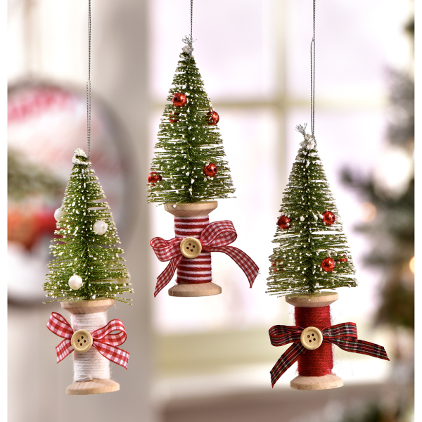 Spool Design Christmas Tree Ornaments