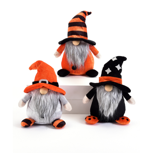 Plush Halloween Gnome Set