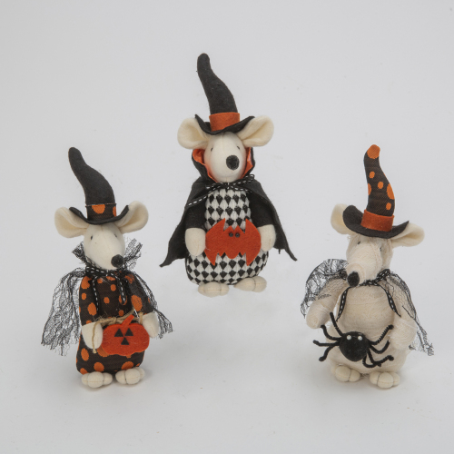 Trick or Treating Mouse Trio