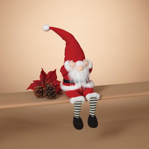 Bashful Holiday Gnome Shelf Sitter
