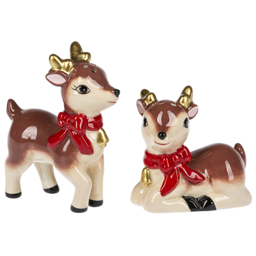 LTD QTY!  Retro Deer Salt & Pepper Set