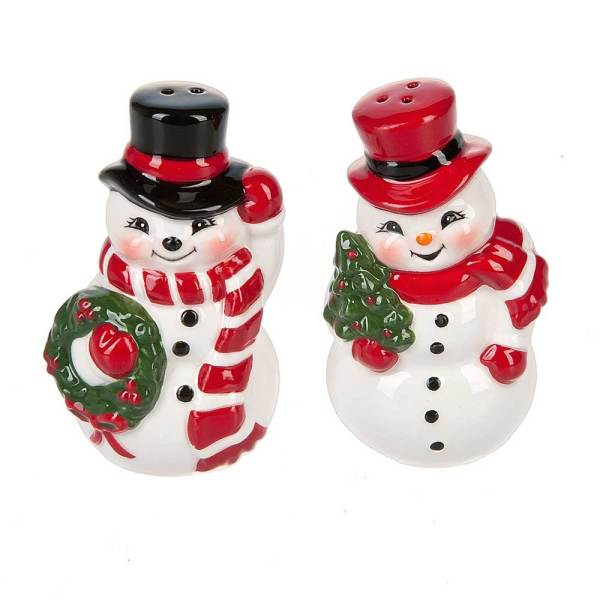 Happy Snowman Salt & Pepper Set