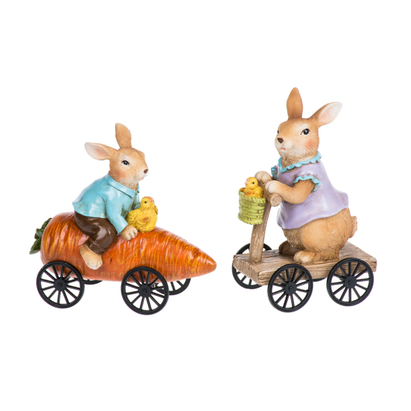 Joy Ride Bunny Figurines