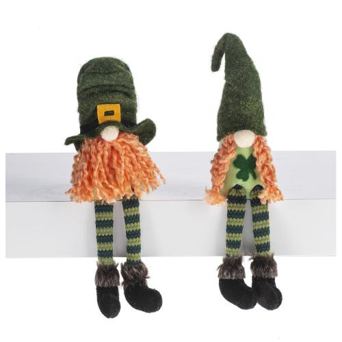 Lucky Little Irish Gnomes Shelf Sitter Couple