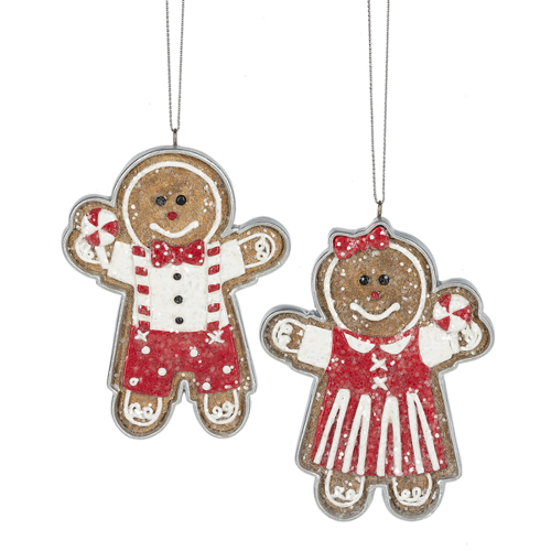 Gingerbread Cookie Ornament Set