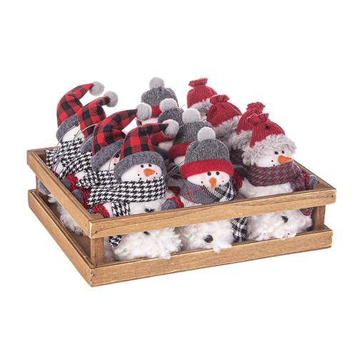 Cozy Snowman Ornament Set
