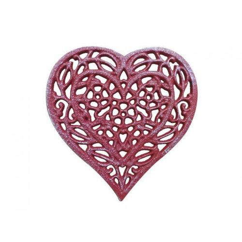 Rustic Red Heart Trivet