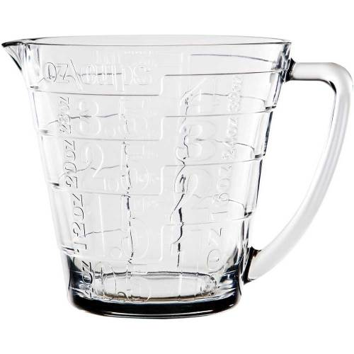 Glass Embossed Measuring Cup