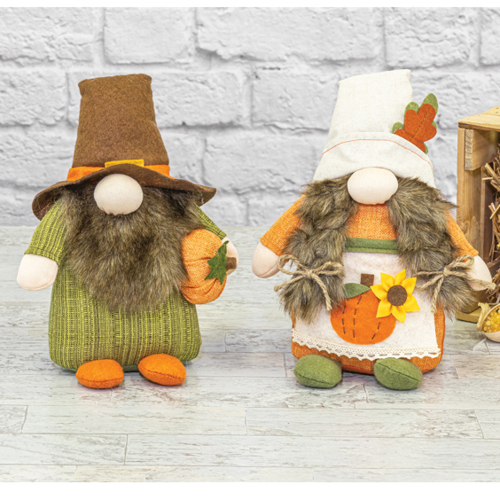 LTD QTY!  Autumn Gnome Sitter Pair