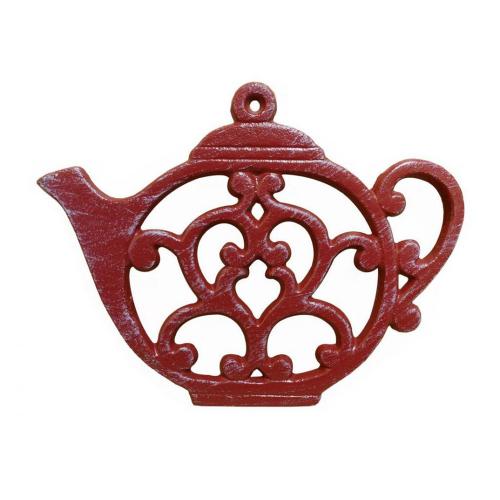 SOS!  Rustic Red Teapot Trivet