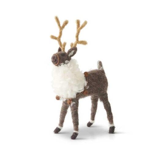 Wool Reindeer with Bells