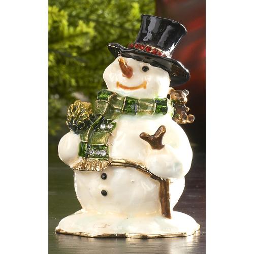 Snowman Hinged Keepsake Box