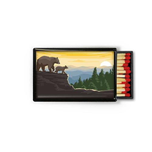 SALE!  Mama Bear & Cub Large Matchbox