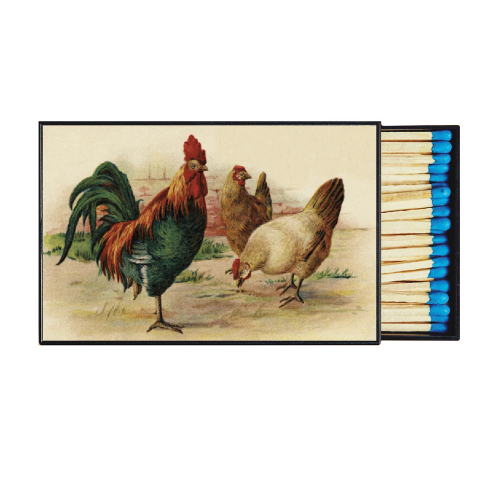 Barnyard Chickens Large Matchbox