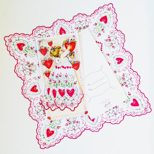 SALE!  Sweet Valentine Hankie Gift Card