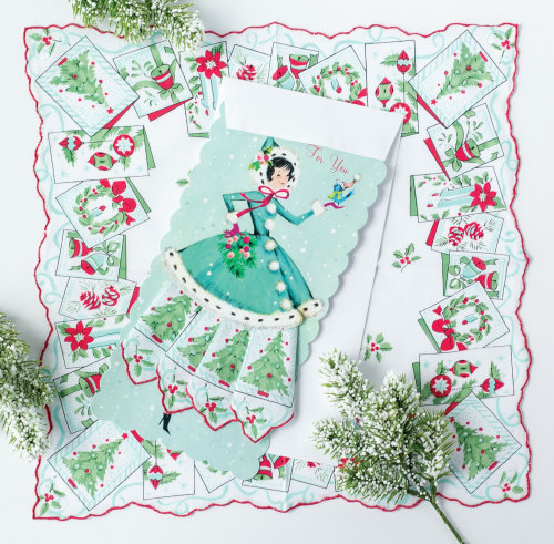 Holiday Susie Gift Hankie Card