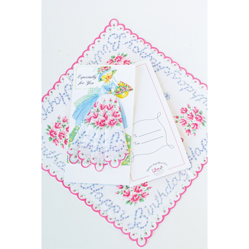 Happy Birthday Floral Hankie Gift Card