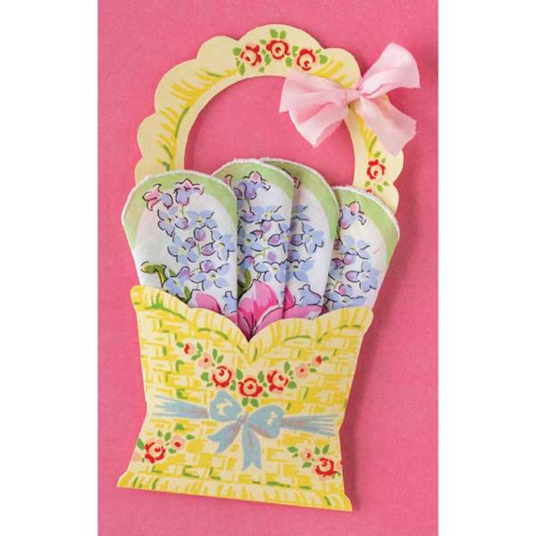 Flower Basket Hankie
