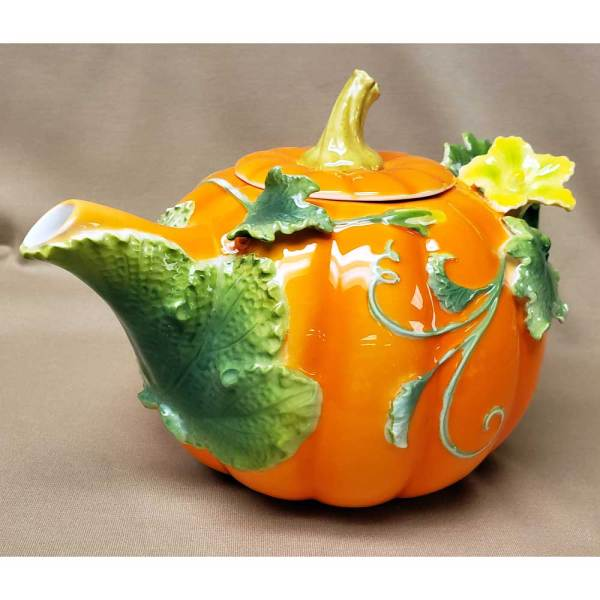 Fancy Pumpkin Teapot