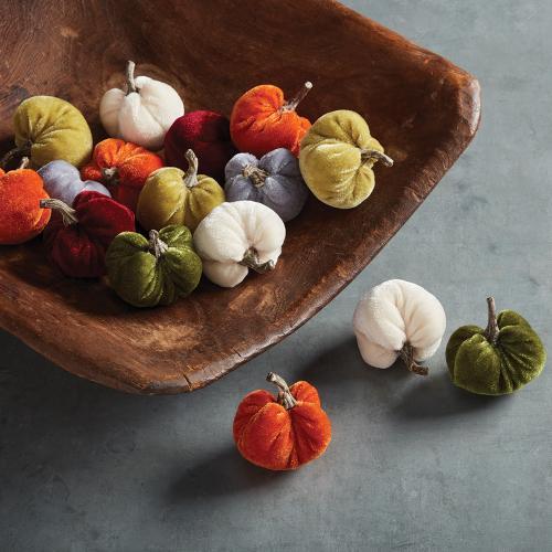Velvet Mini Pumpkin Set