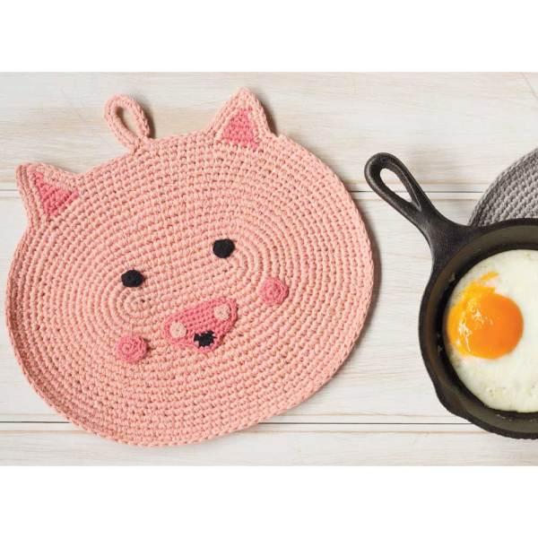 SALE!  Penny Pig Crochet Trivet