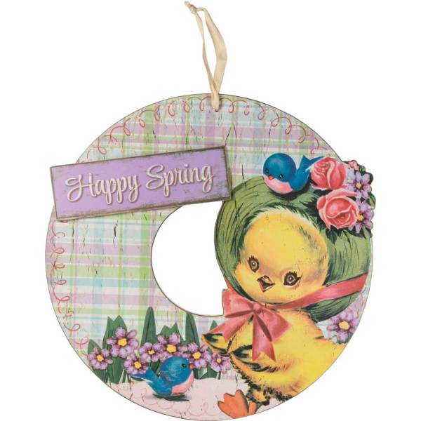 SALE!!  Happy Spring Wreath