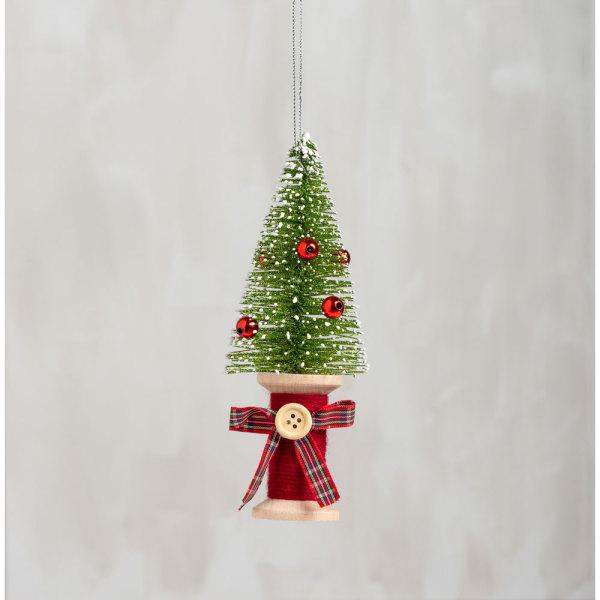 Tree on Spool Ornament