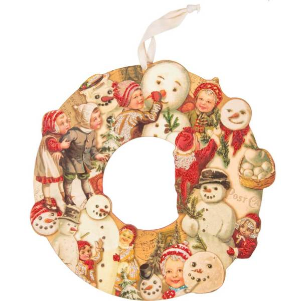 Children & Snowmen Wreath