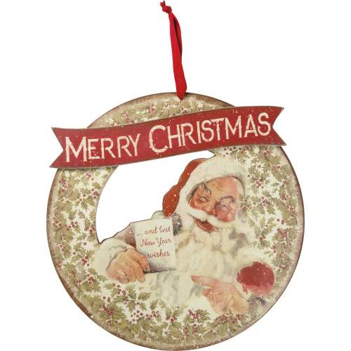 SALE!  Merry Christmas Santa Wreath