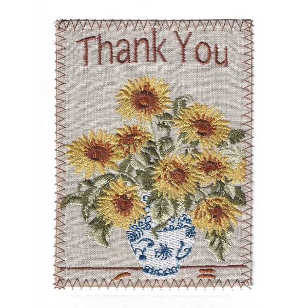 Delightful Sunflowers Thank You Card