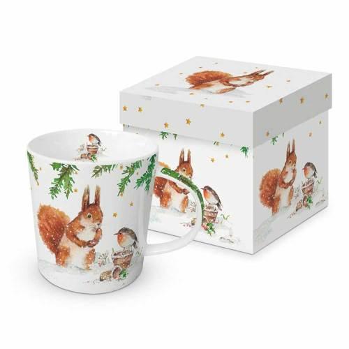 Squirrel & Robin China Mug
