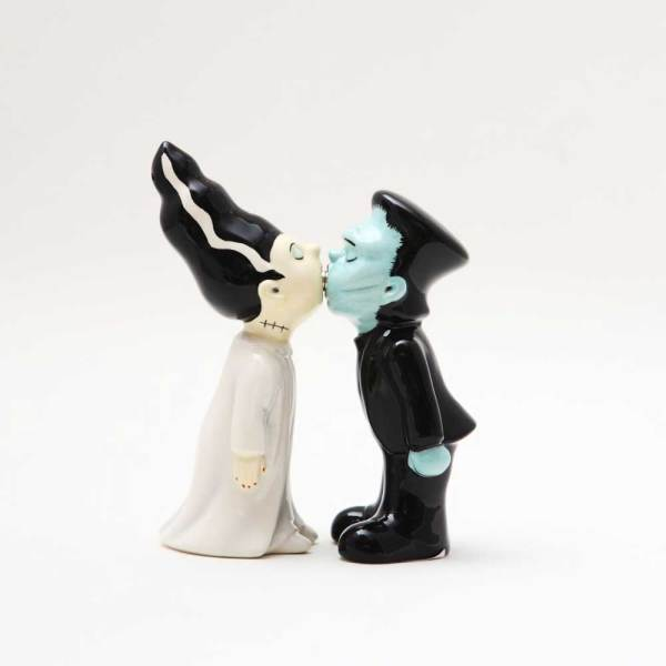 SOS!  Frankenstein & Bride Salt & Pepper Shakers