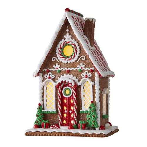 Tudor Gingerbread Lighted House