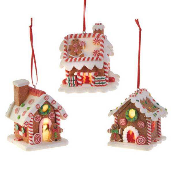 SOS! Mini Lighted Gingerbread House Ornament