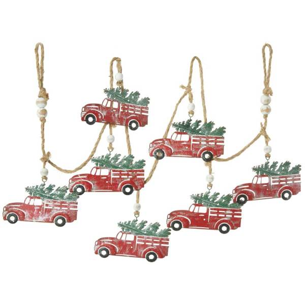 Metal Truck & Tree Garland