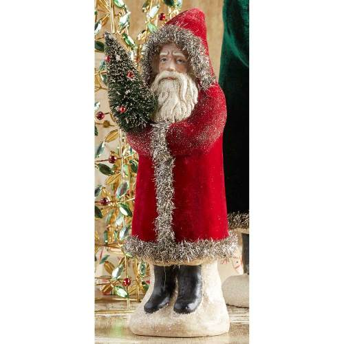 Vintage Santa in Red Coat