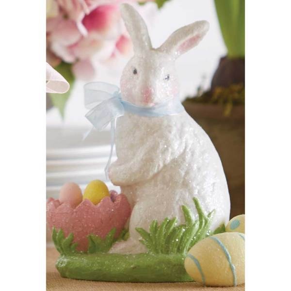 SALE!  Glitter Bunny With Basket