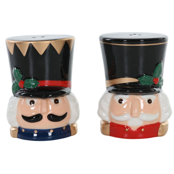 LTD QTY!  Nutcracker Salt & Pepper