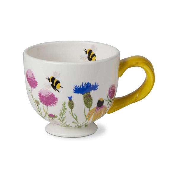 SALE!  Wildflower Footed Mug