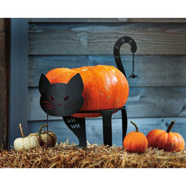 Black Cat Pumpkin or Bowl Stand
