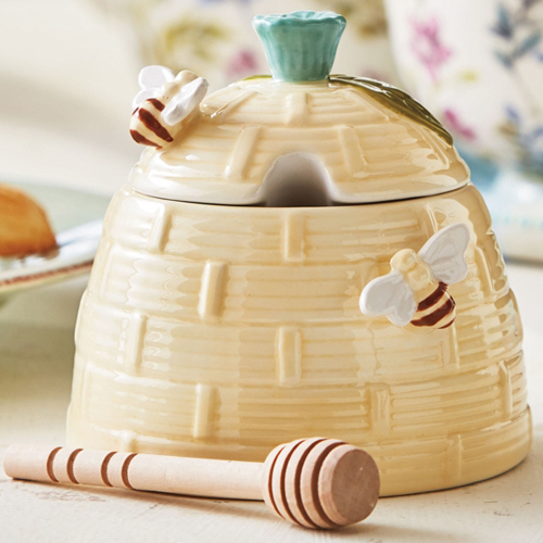SALE!  Bee Honey Pot & Dipper Set