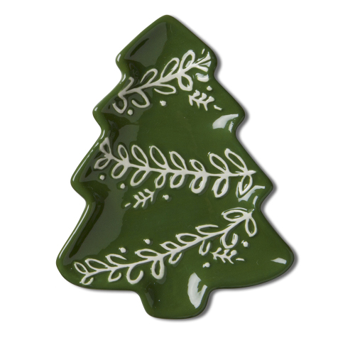 Green Christmas Tree Plate