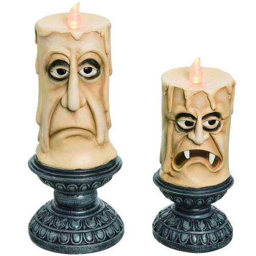 SOS!  Light Up Spooky Candles Set