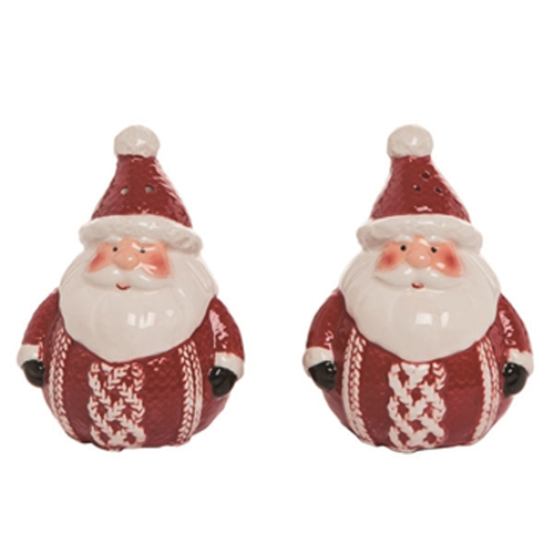 SOS!  Christmas Santa Salt & Pepper