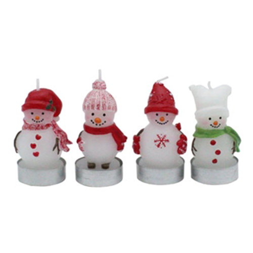 SALE!  Snowman Candles in Box, S/4