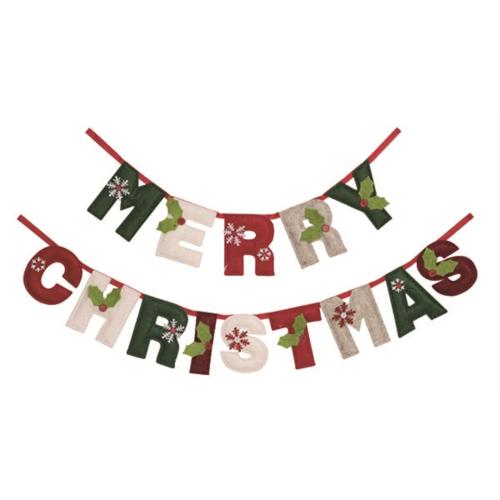 Felt Merry Christmas Banner