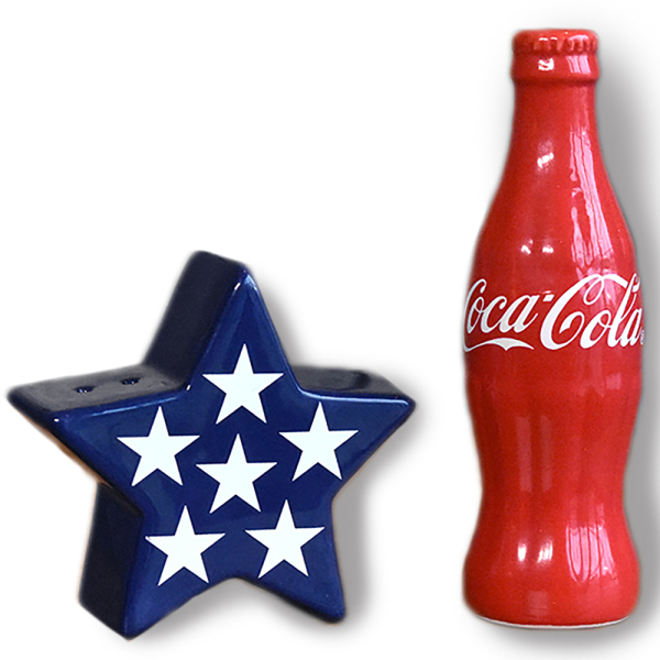 SALE!  Coca-Cola Salt & Pepper Set
