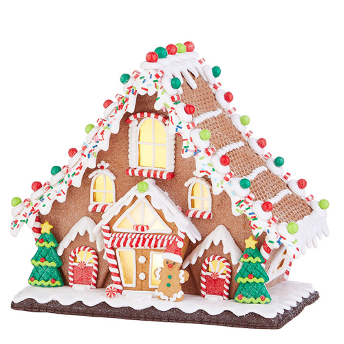 LTD QTY!  Gingerbread Lighted Lodge