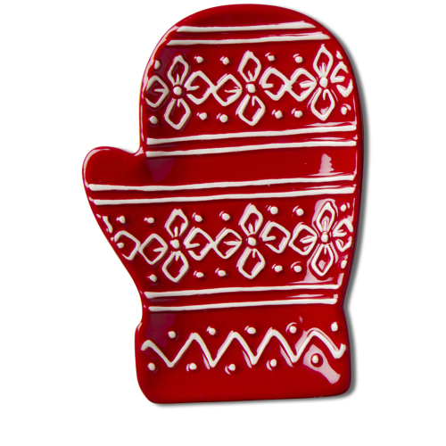 SOS!  Red Mitten Plate